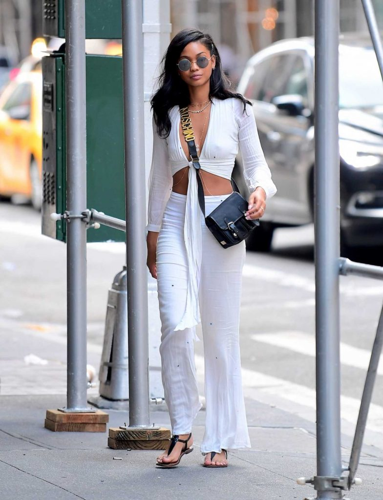 Chanel Iman Was Seen Out in NYC-2