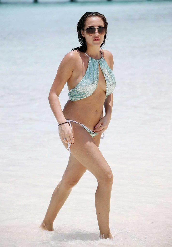 Chloe Goodman in Bikini at the Beach in Barbados-3