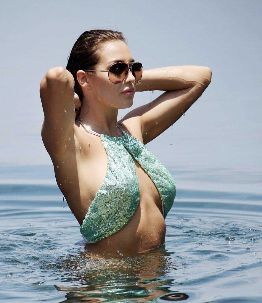 Chloe Goodman in Bikini at the Beach in Barbados-4