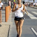 Claire Danes Running in Santa Monica