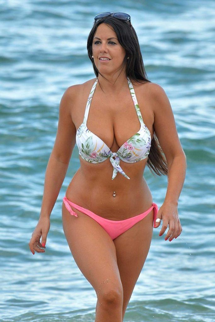 Claudia Romani in Bikini at the Beach in West Palm Beach-5