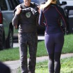 Gwyneth Paltrow Shares a Kiss on the Set of Avengers 4 in Fayetteville