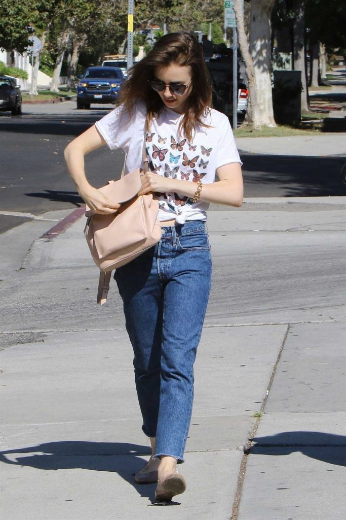 Lily Collins Out Shopping in Beverly Hills-3