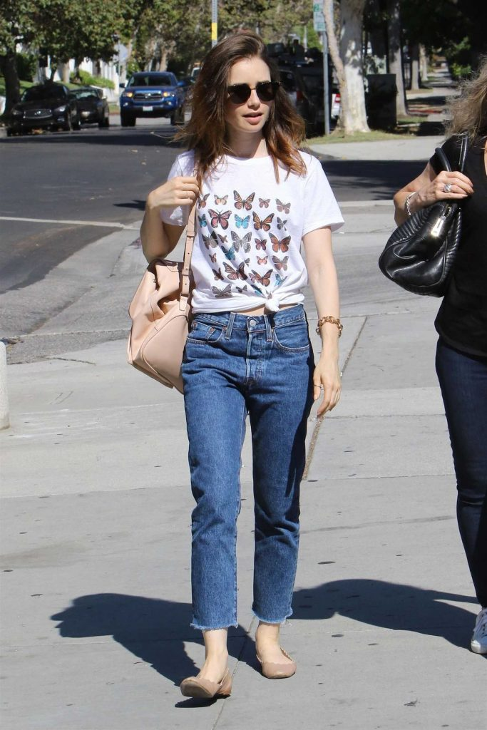 Lily Collins Out Shopping in Beverly Hills-4