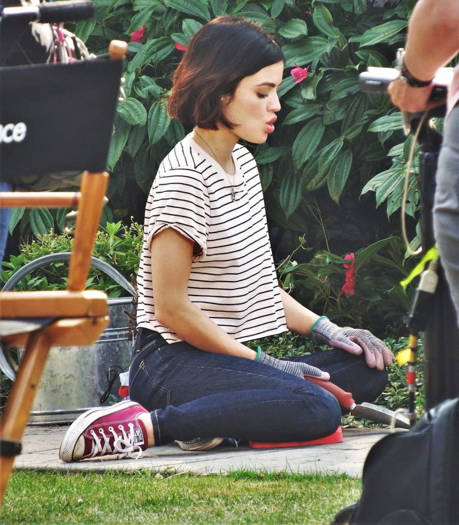 Lucy Hale on the Set of Life Sentence in Vancouver-3