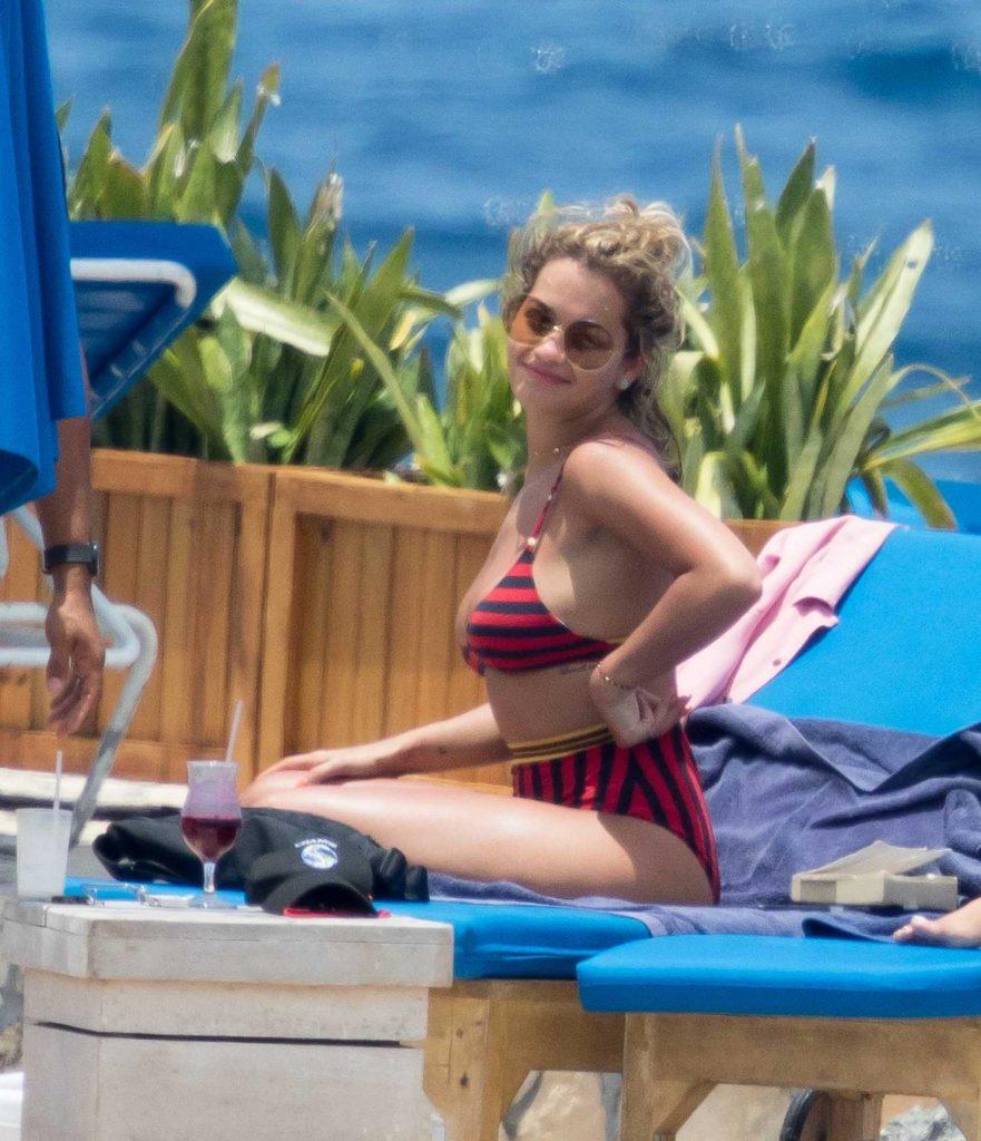 Rita Ora in Bikini at the Beach in Jamaica-5