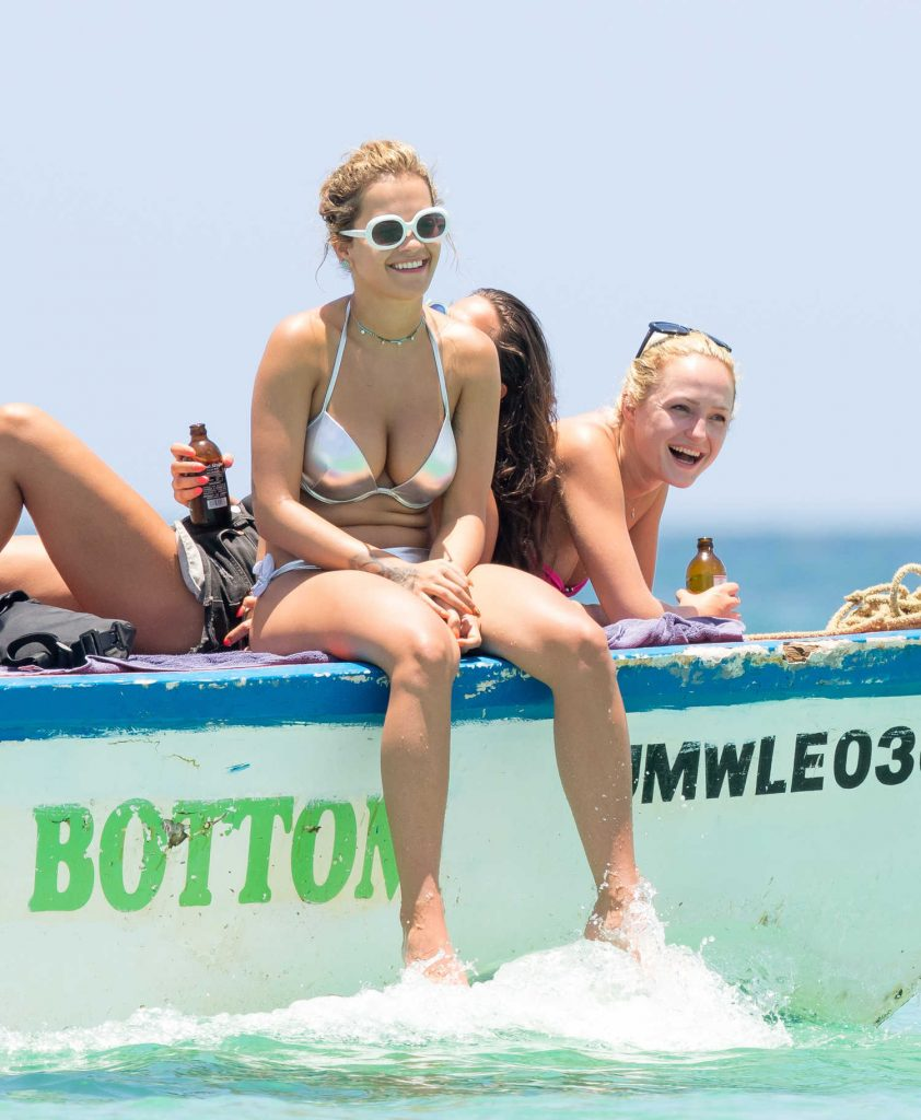 Rita Ora in Bikini Goes for a Boat Trip in Jamaica-4