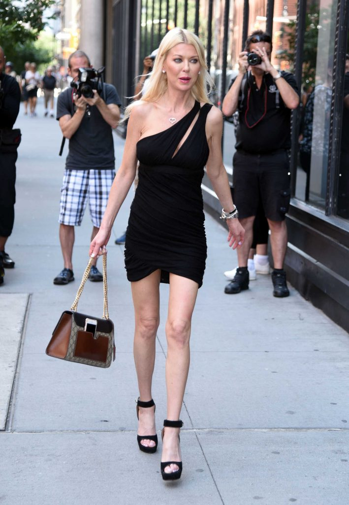 Tara Reid Leaves AOL Build Studio in New York City-2