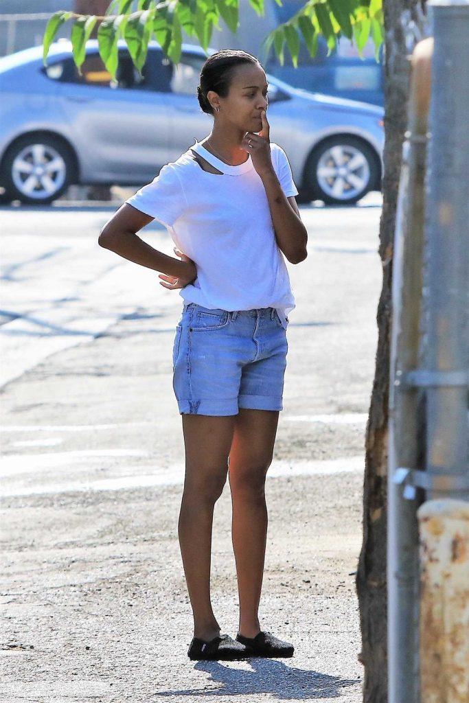 Zoe Saldana Was Seen Out in Studio City-1