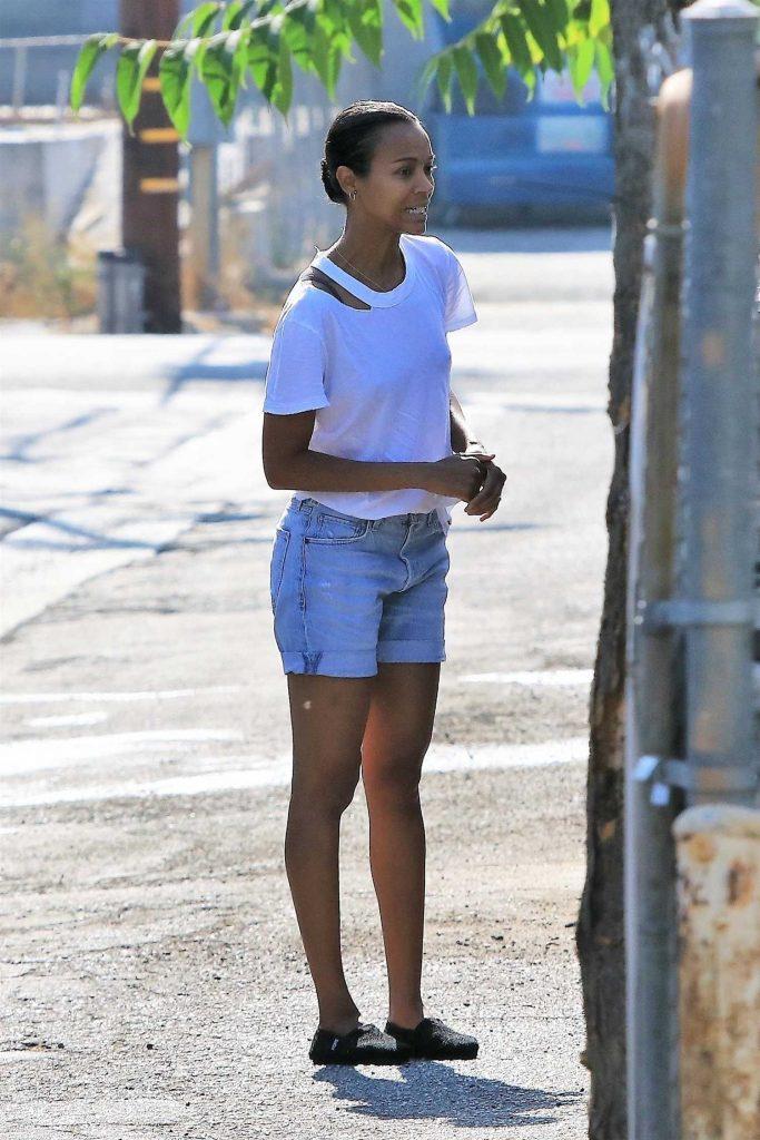 Zoe Saldana Was Seen Out in Studio City-2