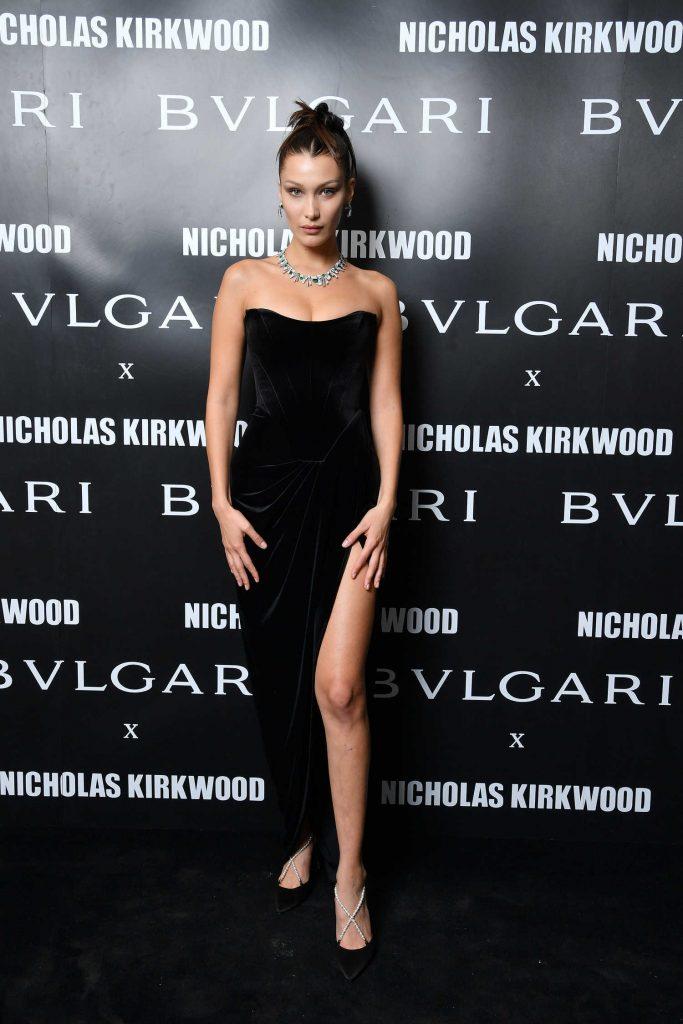 Bella Hadid at the Bvlgari Celebrates Serpenti Forever By Nicholas Kirkwood in Milan-1