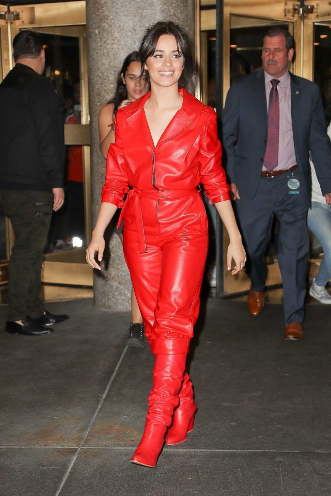 Camila Cabello Leaves The Tonight Show Starring Jimmy Fallon in New York City-1