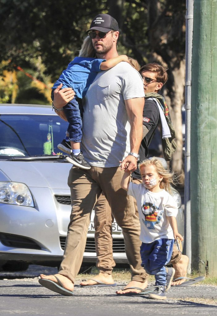 Chris Hemsworth Celebrates Father's Day in Australia With His Family-3