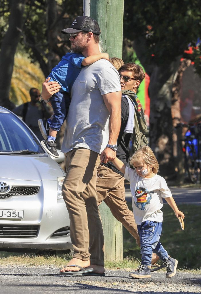 Chris Hemsworth Celebrates Father's Day in Australia With His Family-4