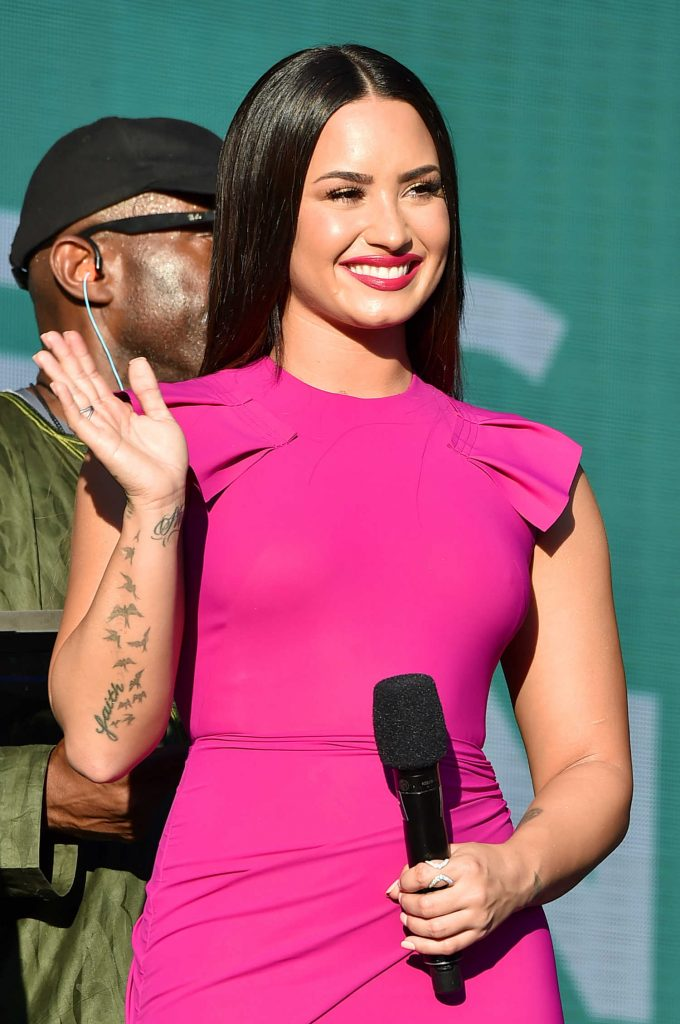 Demi Lovato at the Global Citizen Festival in Central Park, NYC-3