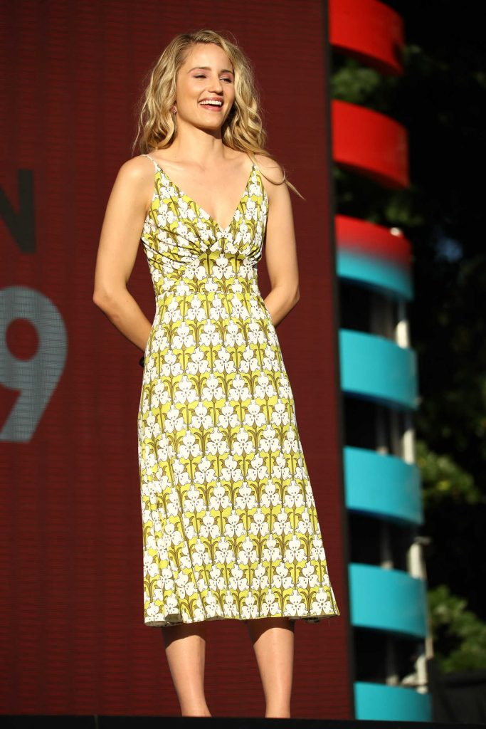 Dianna Agron Speaks on Stage During Global Citizen Festival at Central Park in NYC-2