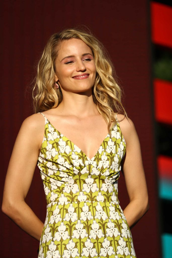 Dianna Agron Speaks on Stage During Global Citizen Festival at Central Park in NYC-3