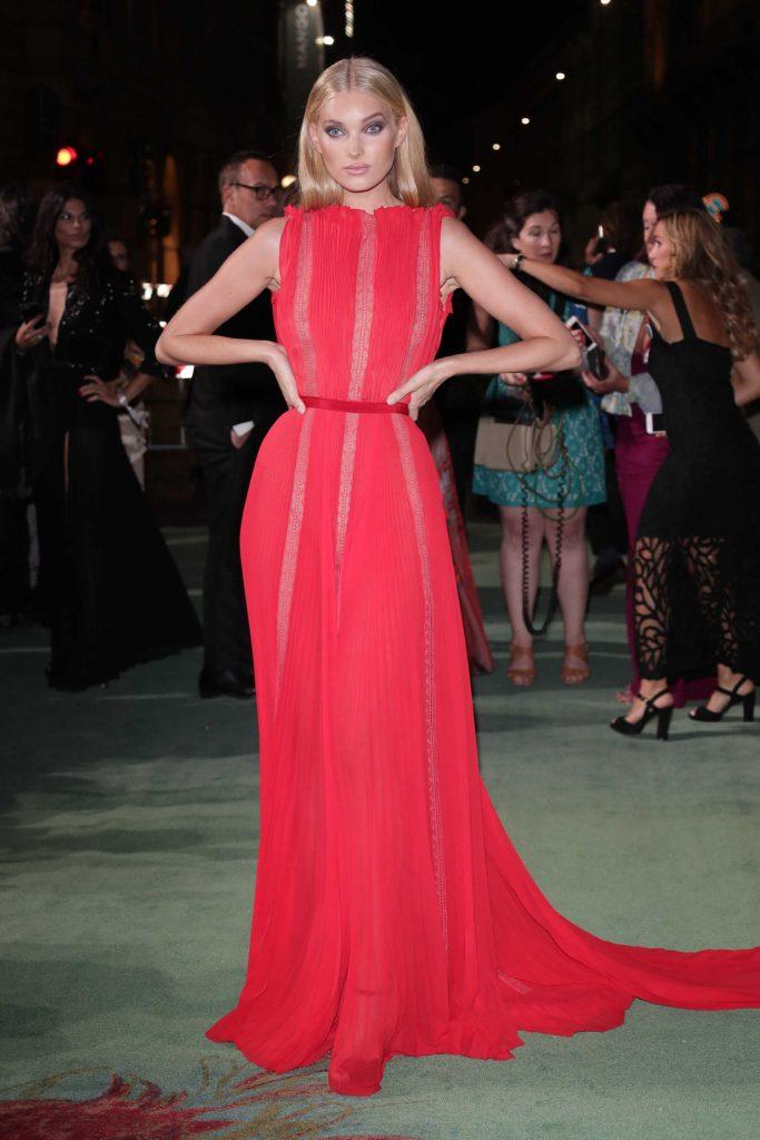 Elsa Hosk at Green Carpet Fashion Awards in Milan-1