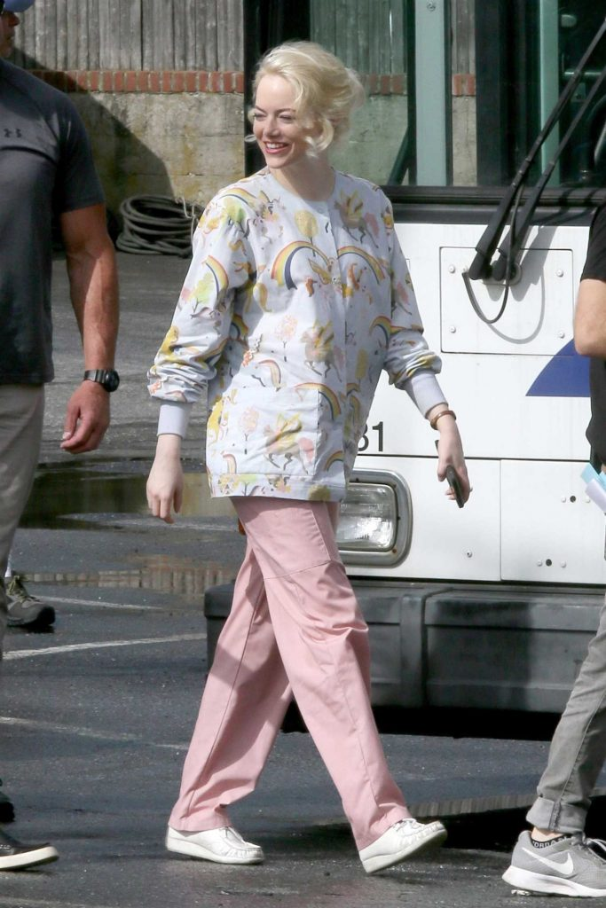 Emma Stone on the Set of Maniac in Long Island, NY-1