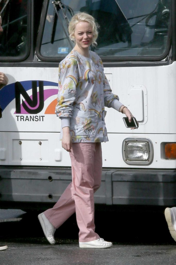 Emma Stone on the Set of Maniac in Long Island, NY-3