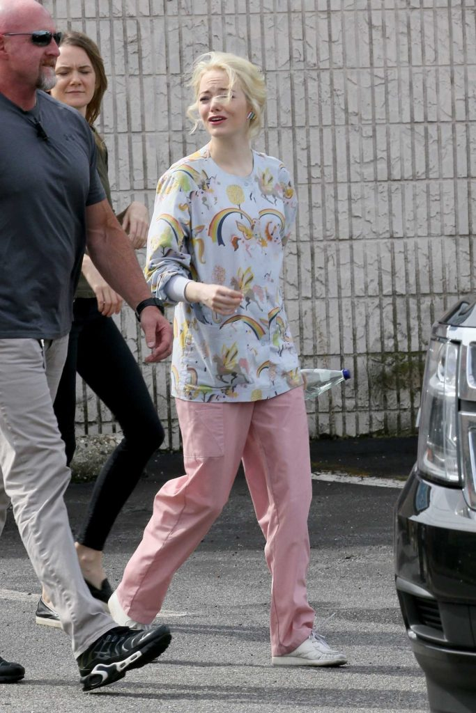 Emma Stone on the Set of Maniac in Long Island, NY-4
