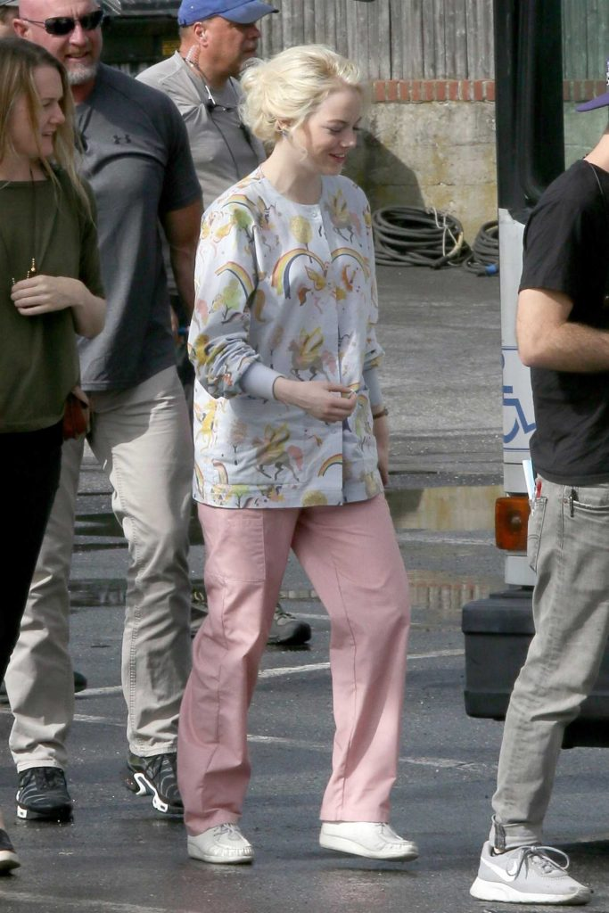 Emma Stone on the Set of Maniac in Long Island, NY-5