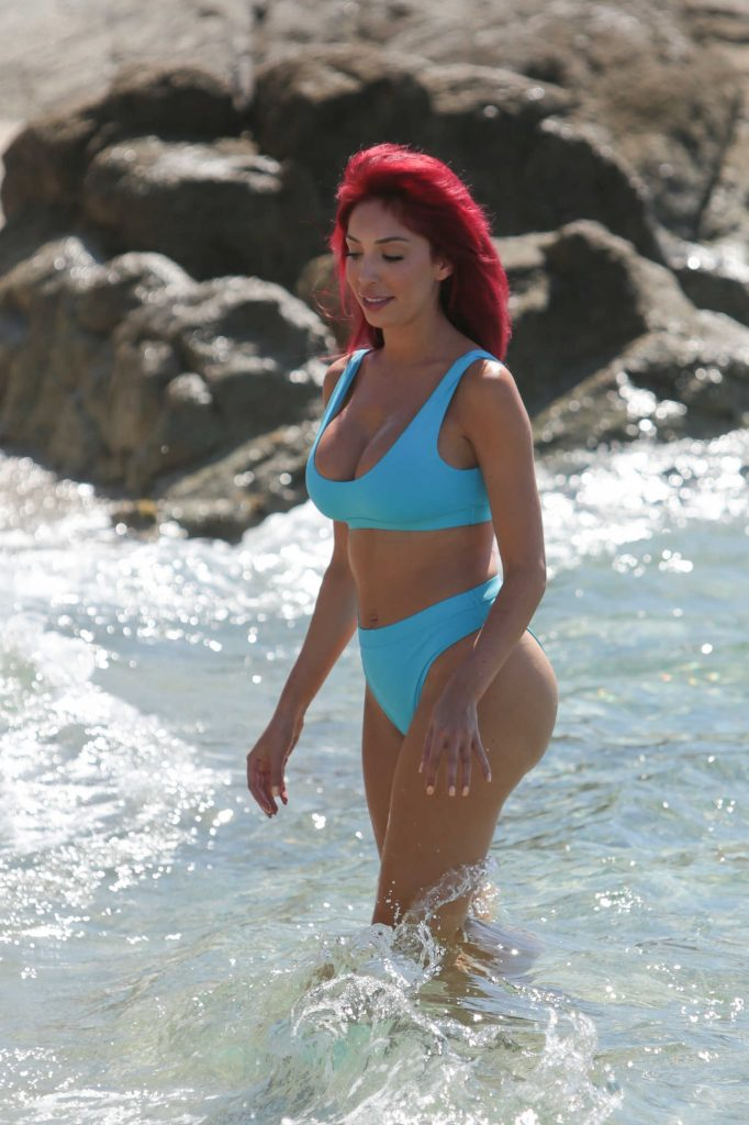 Farrah Abraham in Bikini at the Beach in Greece-5