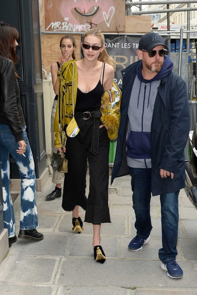 Gigi Hadid Leaves Isabel Marant Office in Paris-1