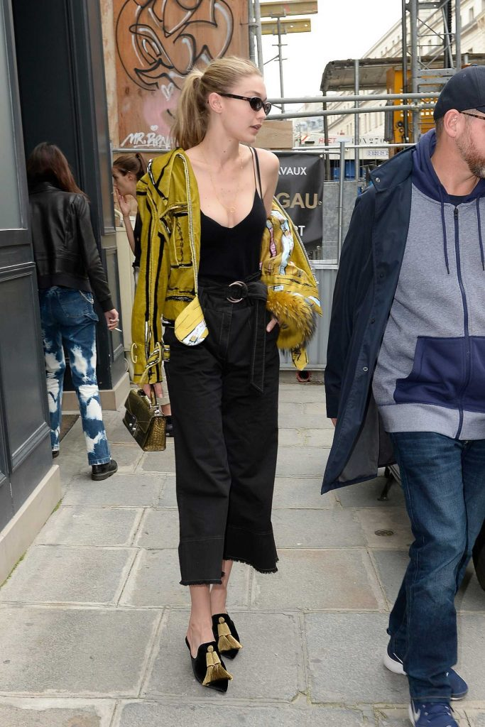 Gigi Hadid Leaves Isabel Marant Office in Paris-3