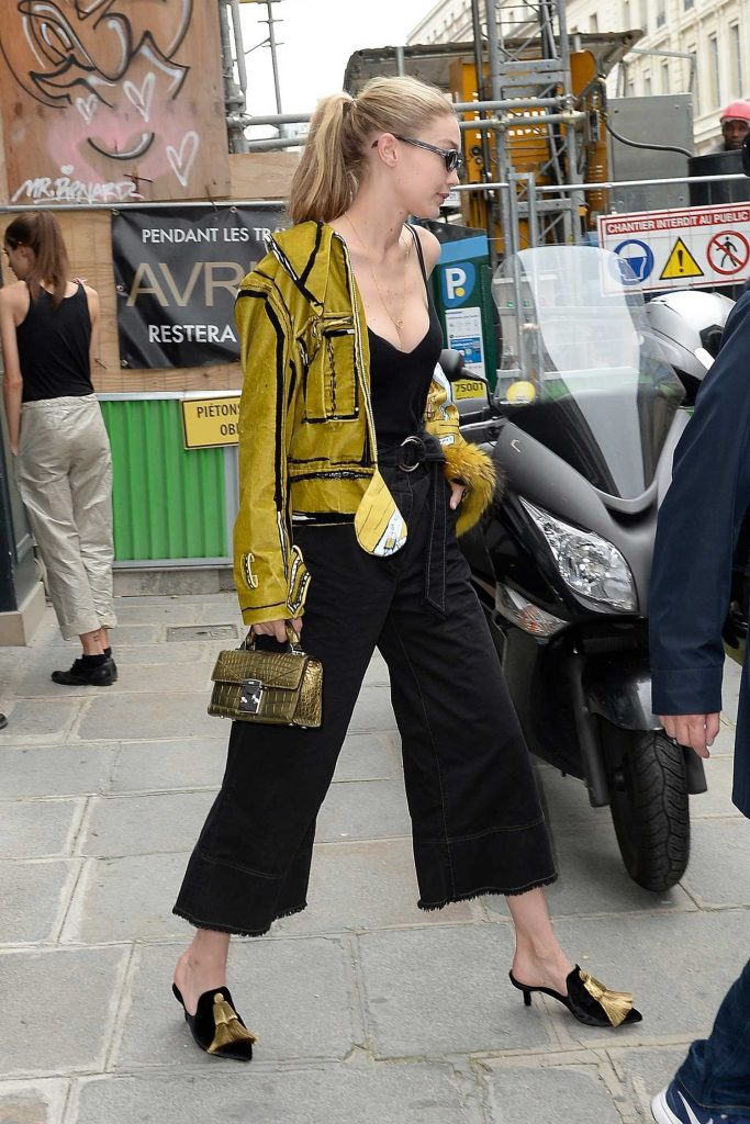 Gigi Hadid Leaves Isabel Marant Office in Paris-5