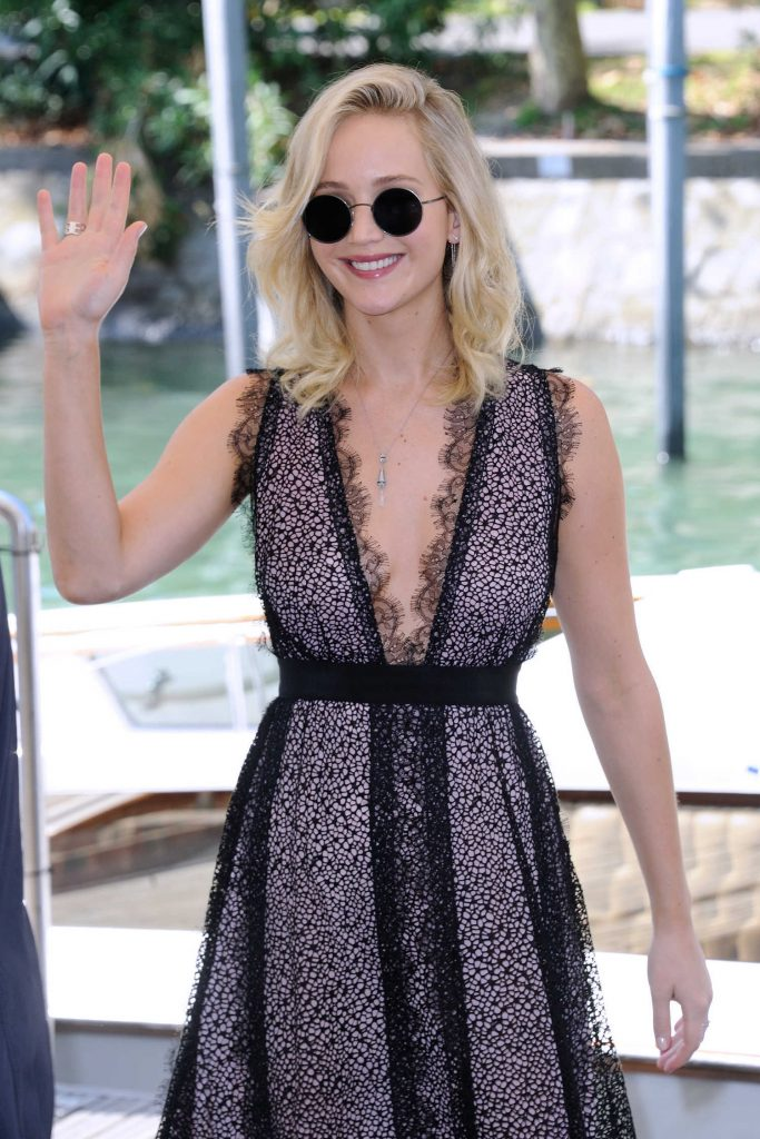 Jennifer Lawrence at the Casino During the 74th Venice International Film Festival in Italy-1