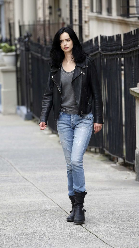 Krysten Ritter on the Set of Jessica Jones in NYC-1