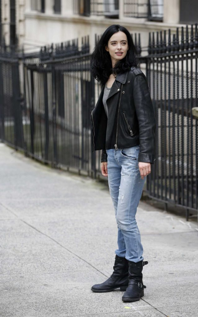 Krysten Ritter on the Set of Jessica Jones in NYC-2