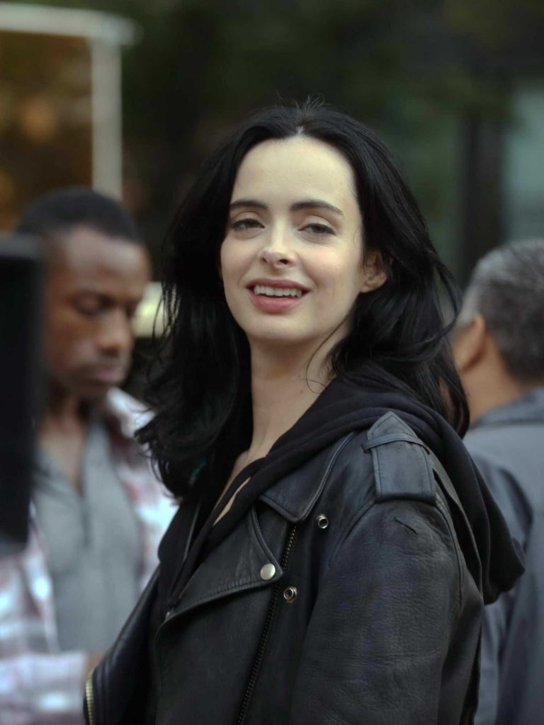 Krysten Ritter on the Set of Jessica Jones in NYC-3