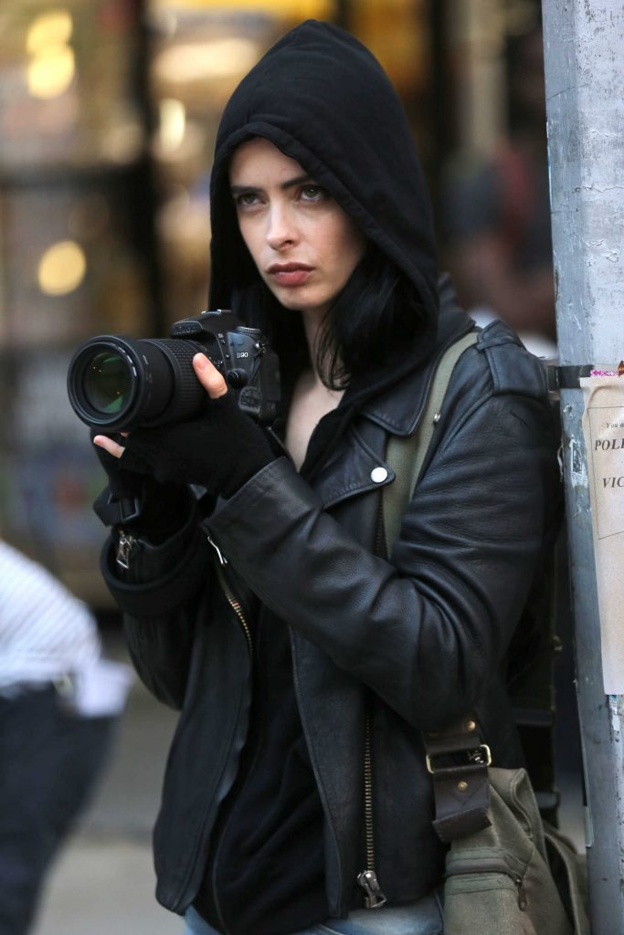 Krysten Ritter on the Set of Jessica Jones in NYC-4