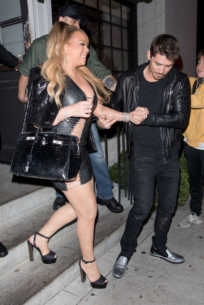 Mariah Carey Leaves the Gracias Madre Restaurant in West Hollywood-2