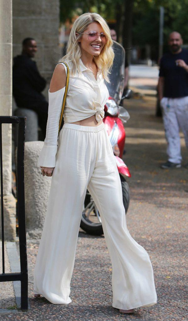 Mollie King Leaves the ITV Studios in London-1