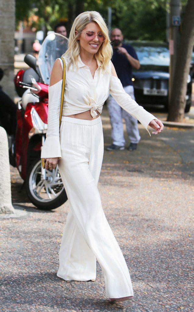 Mollie King Leaves the ITV Studios in London-2