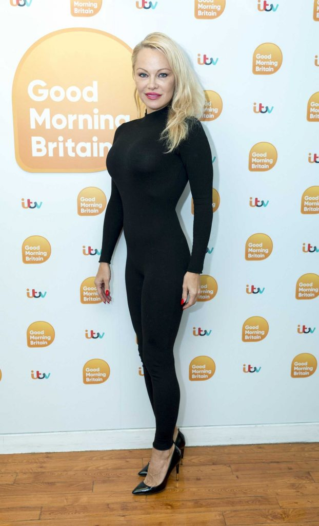 Pamela Anderson at Good Morning Britain TV Show in London-1