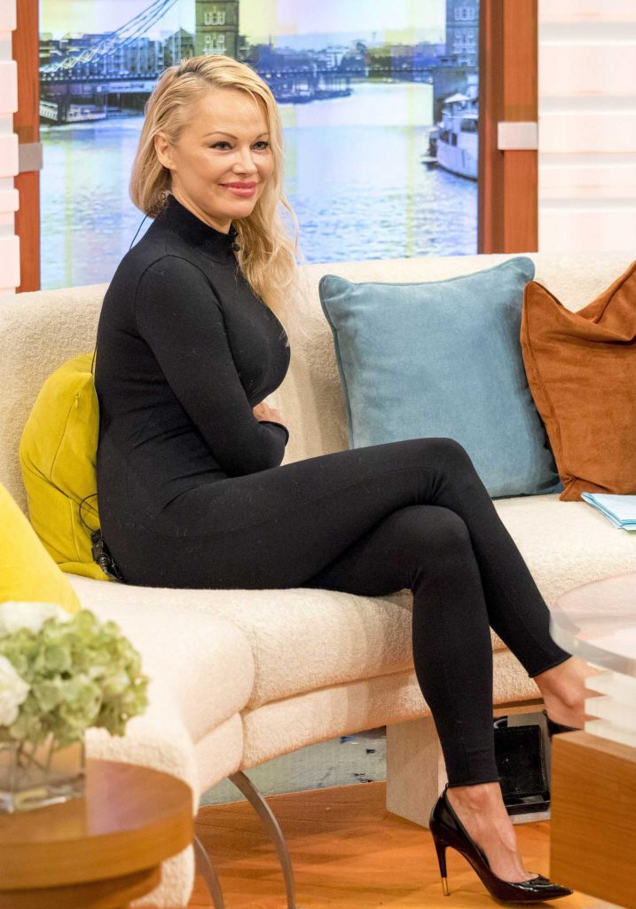 Pamela Anderson at Good Morning Britain TV Show in London-2