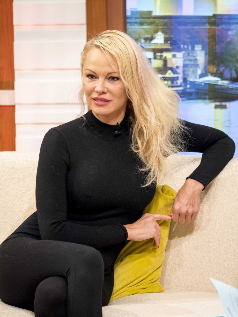 Pamela Anderson at Good Morning Britain TV Show in London-3
