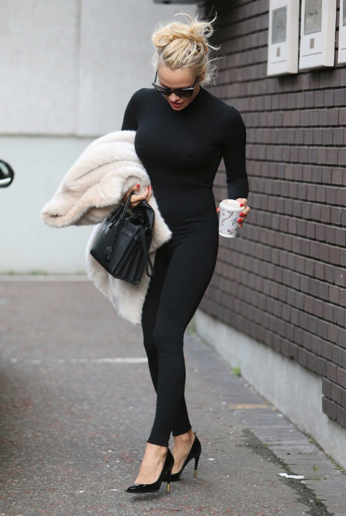 Pamela Anderson Leaves ITV Studios in London-2