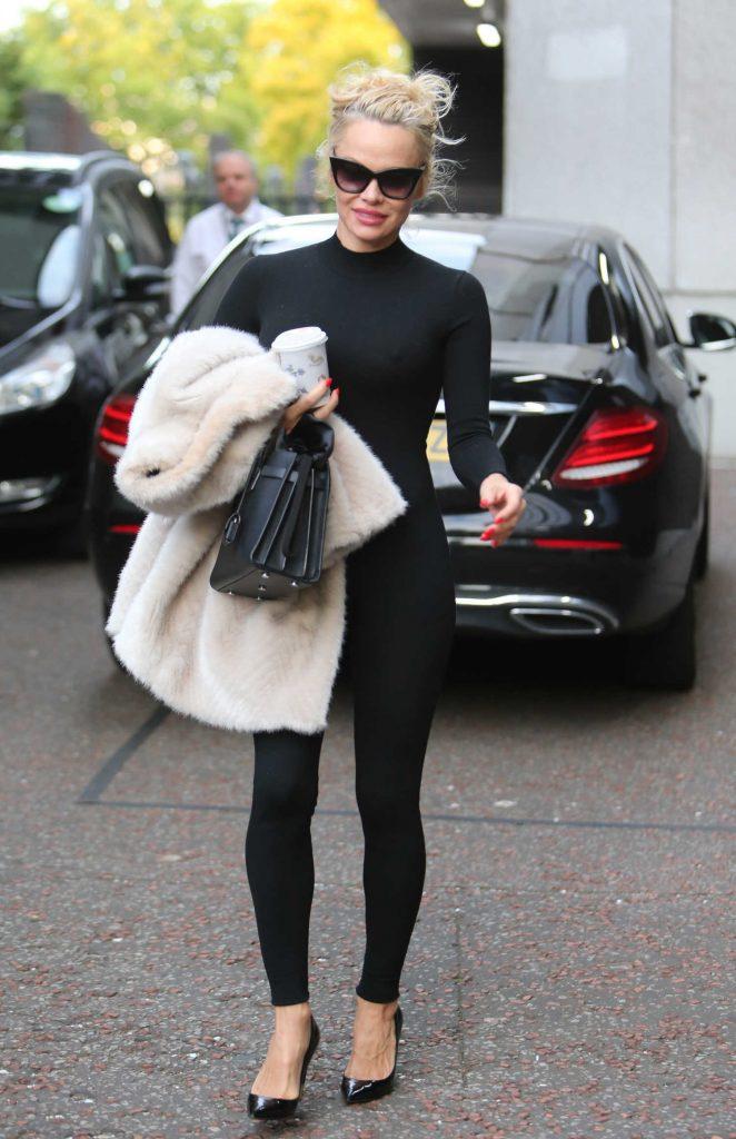 Pamela Anderson Leaves ITV Studios in London-3