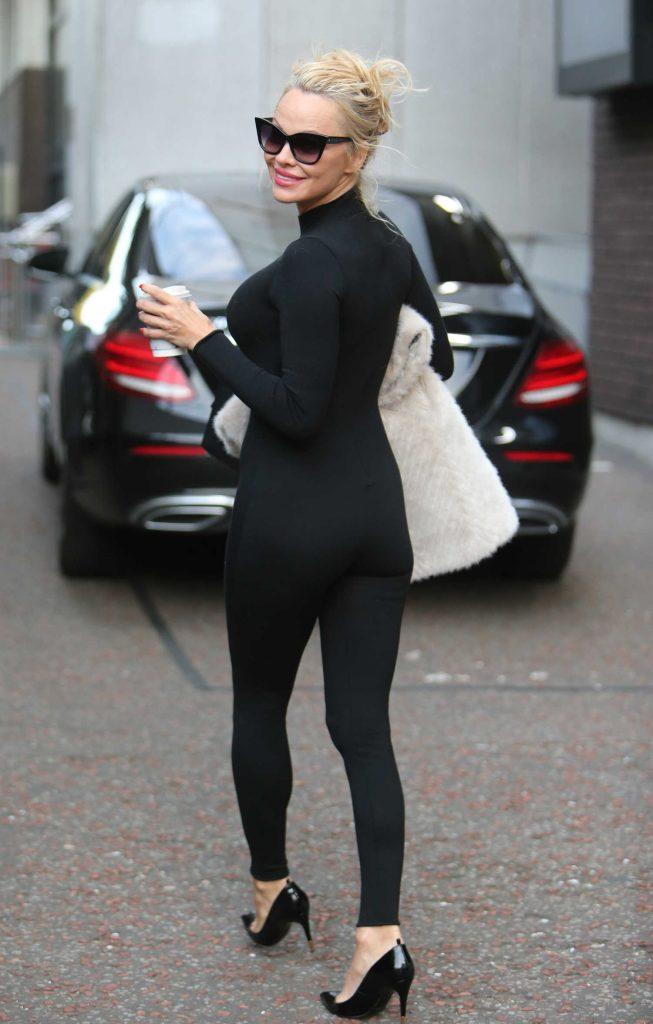 Pamela Anderson Leaves ITV Studios in London-4