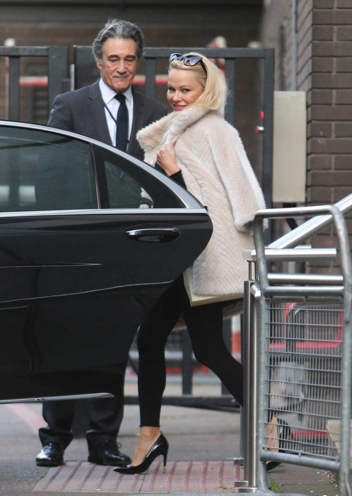 Pamela Anderson Leaves ITV Studios in London-5