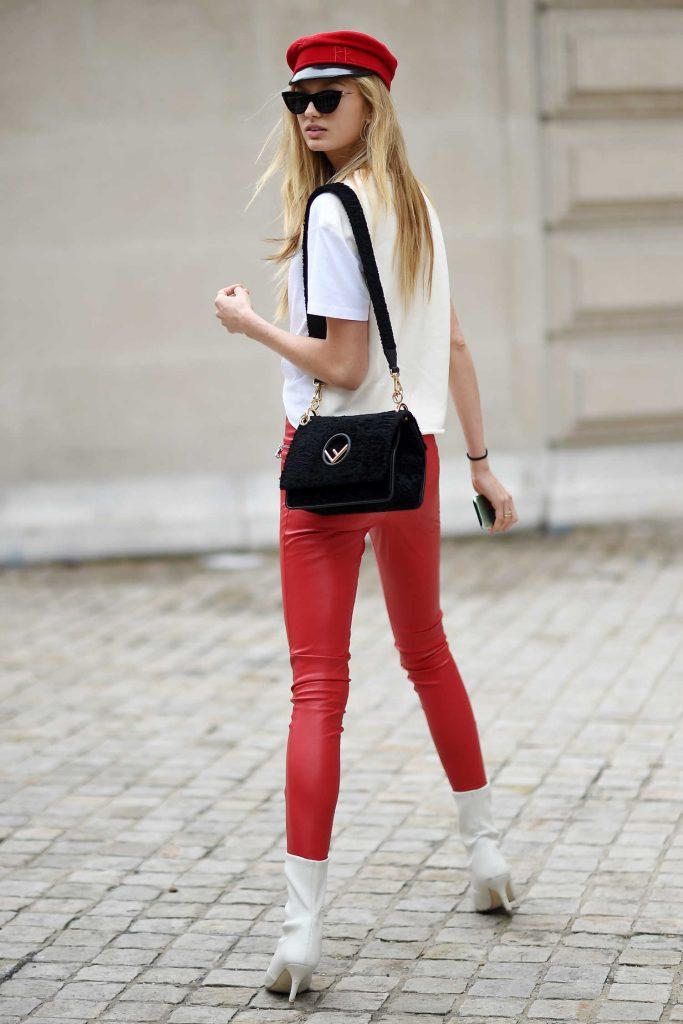Romee Strijd Arrives at the Balmain Show During Paris Fashion Week-3