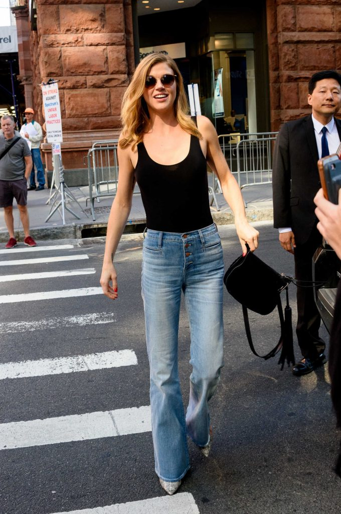 Adrianne Palicki Visits AOL Build Studio in New York City-1