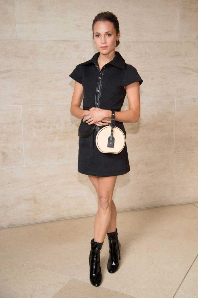 Alicia Vikander at the Louis Vuitton Show During Paris Fashion Week-2