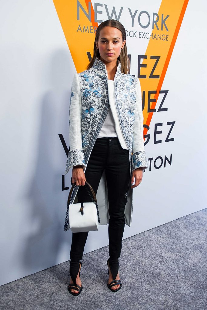 Alicia Vikander at the Volez, Voguez, Voyagez: Louis Vuitton Exhibition Opening in NYC-1