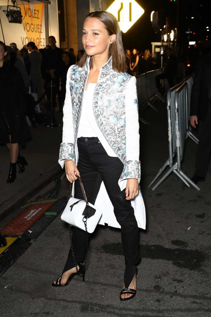 Alicia Vikander at the Volez, Voguez, Voyagez: Louis Vuitton Exhibition Opening in NYC-4